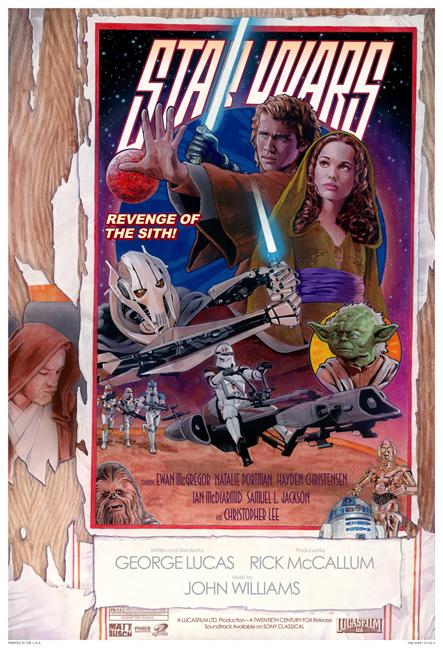 Revenge Of The Sith Style D One Sheet Matt Busch Online Store